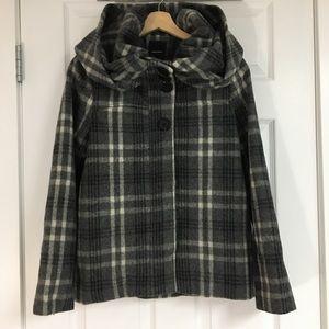 Vero Moda short hooded wool jacket, size XS.